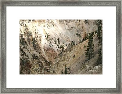 Framed Print featuring the photograph Light And Shadows In The Grand Canyon In Yellowstone by Living Color Photography Lorraine Lynch