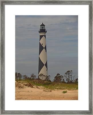 Light At Diamond Shoals1376 Framed Print by J D  Whaley