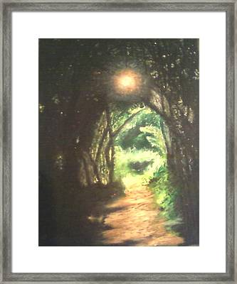 Light At The End Of The Trail Framed Print by Samuel McMullen