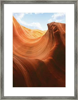 Light At The End Of The Tunnel - Antelope Canyon Az Framed Print by Christine Till