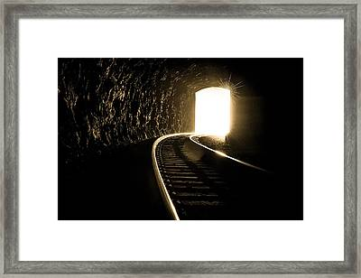 Light At The End Of The Tunnel Framed Print by Joye Ardyn Durham