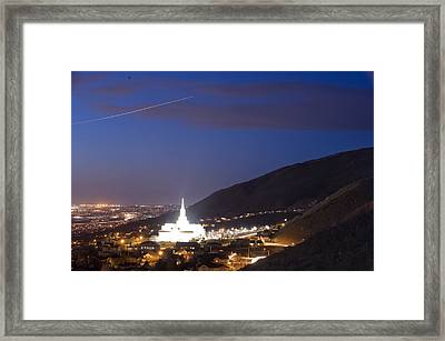 Light Bathes The Granite Structure Framed Print