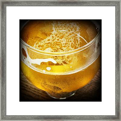 Light Beer Framed Print by Lori Knisely