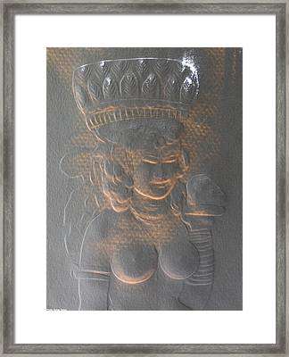 Light Behind Relief Art Framed Print by Suhas Tavkar