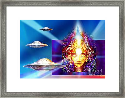 Framed Print featuring the mixed media Light Being by Hartmut Jager