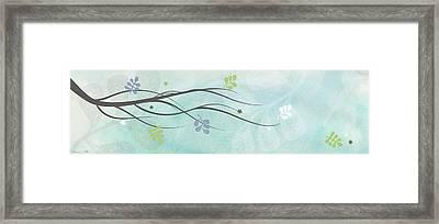 Light Branch Framed Print by Nomi Elboim
