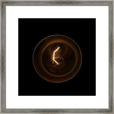 Light Bulb Framed Print by Miguel Capelo