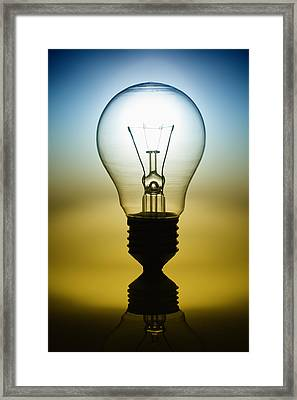 Light Bulb Framed Print