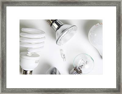 Light Bulbs Framed Print by Photo Researchers, Inc.