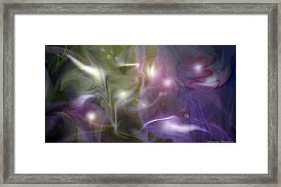 Light Dance Framed Print by Jeanean Gendron