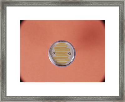 Light Dependent Resistor Framed Print by Andrew Lambert Photography