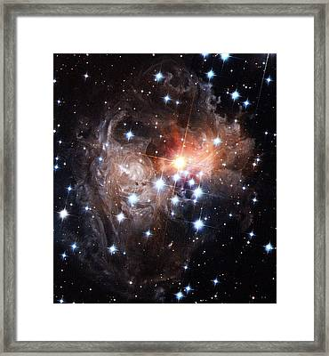 Light Echoes Around Star V838 Monocerotis Framed Print by H. Bondnasaesastsci