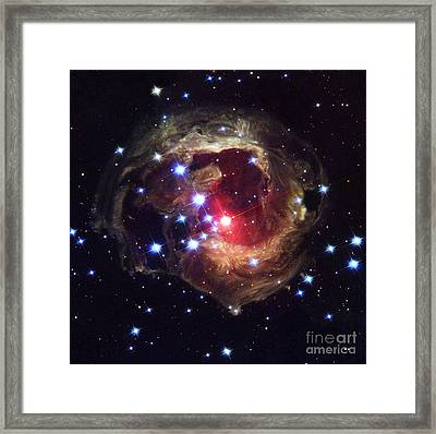 Light Echoes Around V838 Monocerotis Framed Print by NASA / ESA / Space Telescope Science Institute