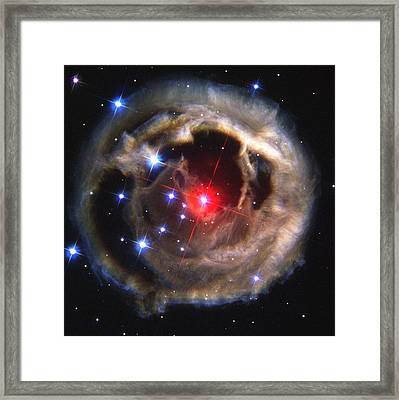 Light Echoes From Exploding Star Framed Print by Nasaesastscih.bond