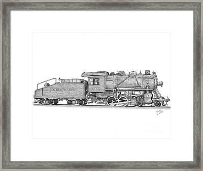 Light Frieght Steam Engine Framed Print by Calvert Koerber