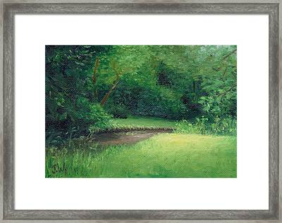 Framed Print featuring the painting Light In August by Joe Winkler