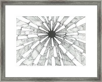 Light In The Dark - Sketch Framed Print by Robert Meszaros