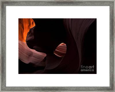 Light In The Eye Framed Print