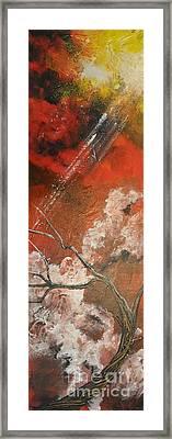 Light In The Red Sky Framed Print