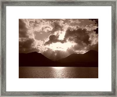 Light In The Sky Framed Print by Nicola Butt