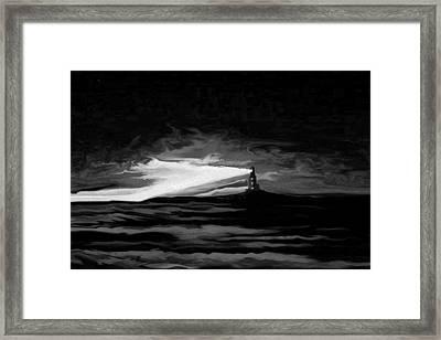 Light In The Storm Framed Print by Sheri Strang