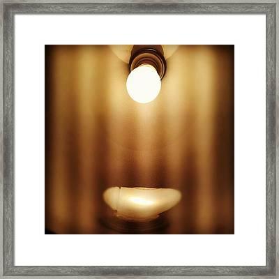 #light #lamp Framed Print