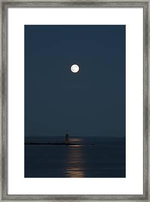 Light Of The Moon Framed Print by Sara Hudock
