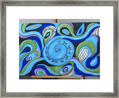 Light Of Your Face Framed Print by Lisa McGuire