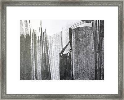Framed Print featuring the painting Light On Books by Jan Swaren