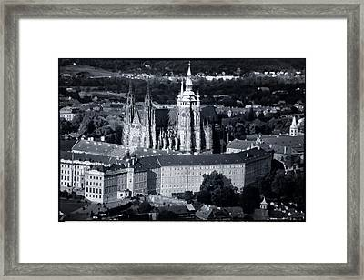 Light On The Cathedral Framed Print by Joan Carroll