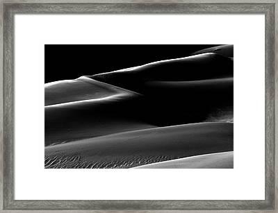 Light On The Dunes  Framed Print