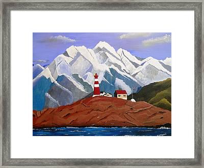Light On The Fjord Framed Print