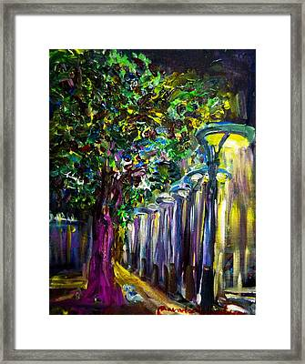 Light On The Street Framed Print