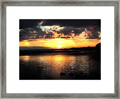 Light On The Water Framed Print by Eddie Armstrong