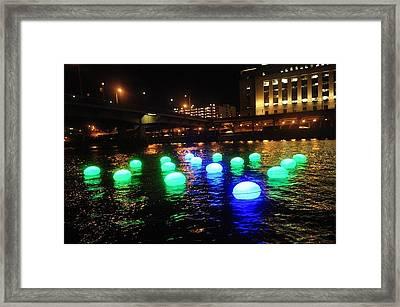 Light Orbs Framed Print by Brynn Ditsche