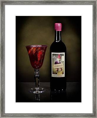 Light Paint Red Wine Framed Print by Noah Katz