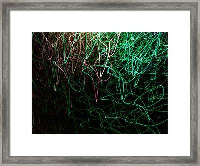 Light Painting 10 Framed Print