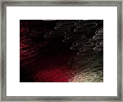 Light Painting 11 Framed Print