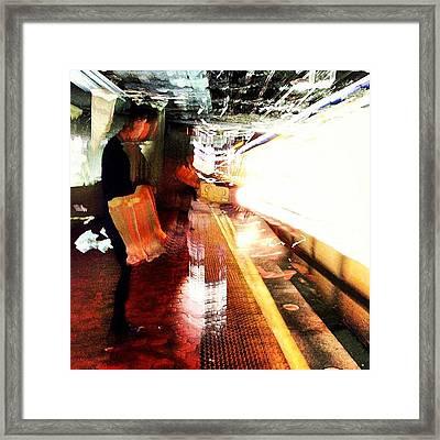 Light Rail Framed Print