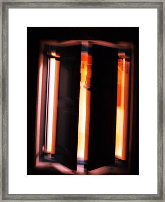 Framed Print featuring the photograph Light Reflections by Colette V Hera  Guggenheim