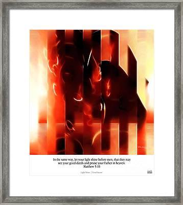 Light Shine. Christian Art Poster Framed Print by Mark Lawrence