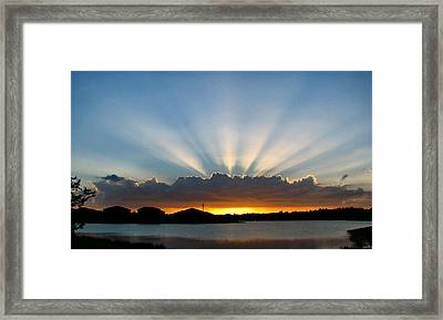 Framed Print featuring the photograph Light Streams by Bill Lucas