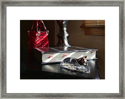 Light Stripes Framed Print by Peter Chilelli
