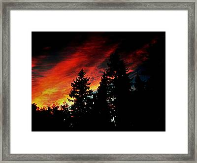 Light The Fire II Framed Print by Kevin D Davis