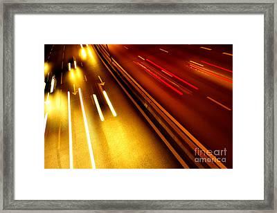 Light Trails Framed Print by Carlos Caetano