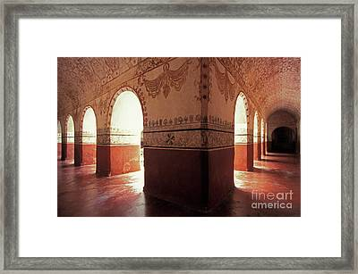 Framed Print featuring the photograph Light Under The Arches Tepoztlan Mexico by John  Mitchell
