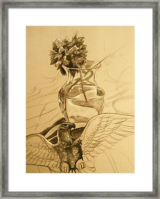 Light Vase Framed Print by Morgan Banks
