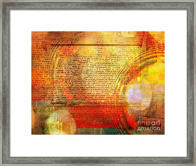 Light Word Framed Print by Fania Simon
