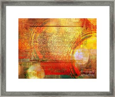 Light Word Framed Print