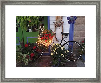 Lighted Bicycle Bayfield Framed Print by Peg Toliver